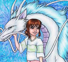 Chihiro and Haku by Kimberly Castello