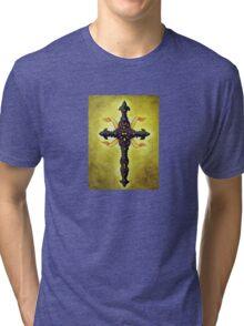 Brown Cross of Beauty Tri-blend T-Shirt