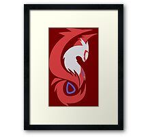 pokemon latios latias shiny anime shirt Framed Print