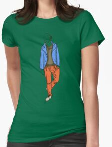 man in fashion clothes Womens Fitted T-Shirt