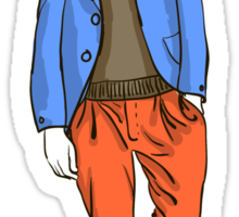man in fashion clothes Sticker