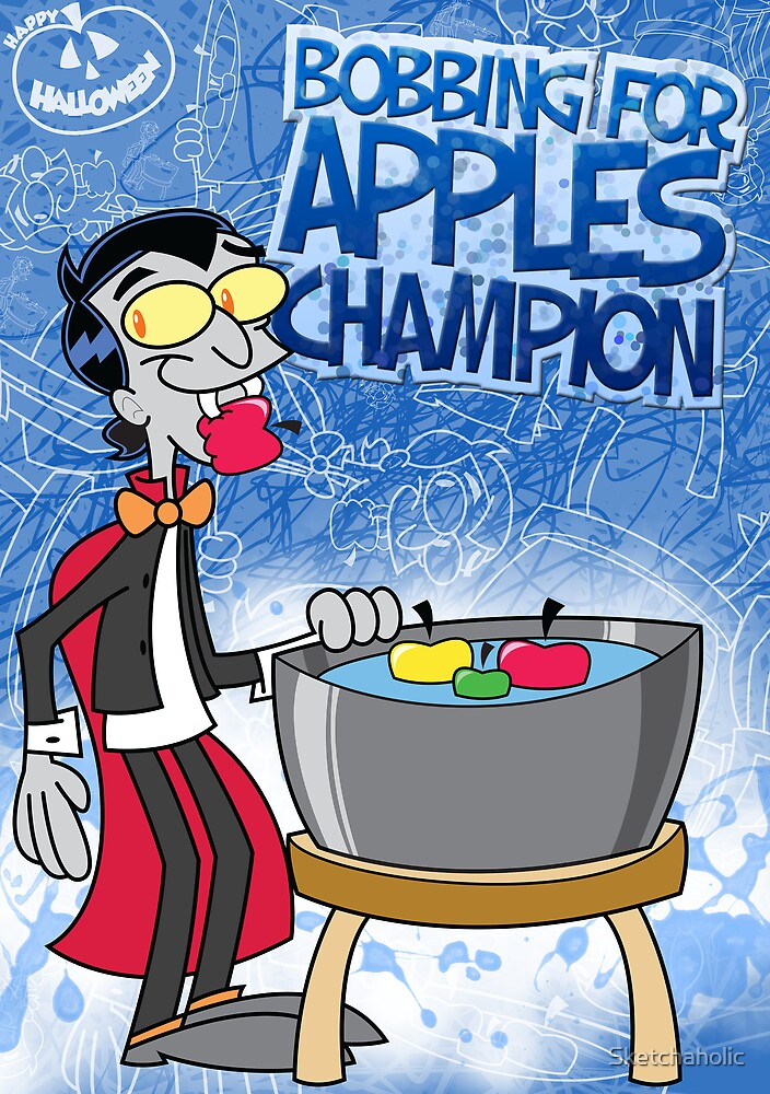 Halloween Poster 2009 - Bobbing for Apples Champion by Sketchaholic