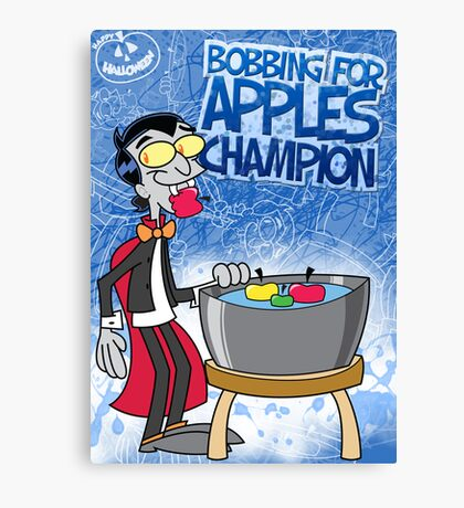 Halloween Poster 2009 - Bobbing for Apples Champion Canvas Print