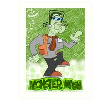 Halloween Poster 2009 - Monster Mash Art Print