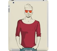 man in fashion clothes iPad Case/Skin