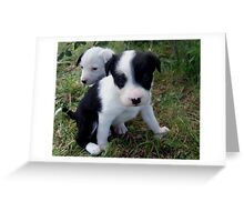 Two pups Greeting Card