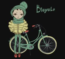girl with bicycle Kids Clothes