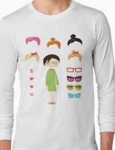 girl fashion set Long Sleeve T-Shirt