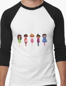Hipster girl fashion set Men's Baseball ¾ T-Shirt