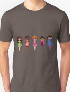 Hipster girl fashion set Unisex T-Shirt