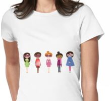 Hipster girl fashion set Womens Fitted T-Shirt