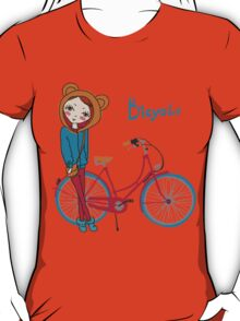 girl with bicycle T-Shirt