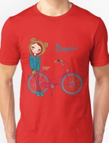 girl with bicycle Unisex T-Shirt