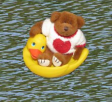 Riding The Waves With My Friend The Duck by Linda Miller Gesualdo