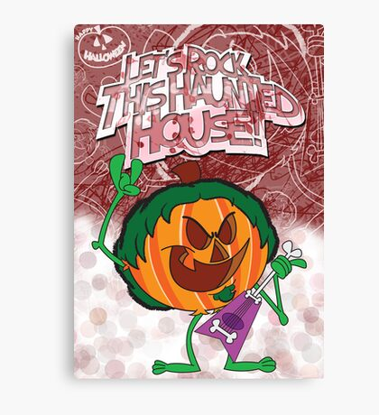 Halloween Poster 2009 - Lets Rock This Haunted House Canvas Print