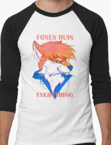 Foxes Ruin Everything Men's Baseball ¾ T-Shirt