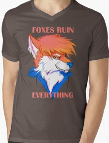 Foxes Ruin Everything Mens V-Neck T-Shirt
