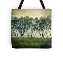 trees near the surf break lennox head Tote Bag