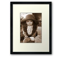 Dress Up Girl Framed Print