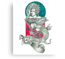 Raja Drag Queen Mermaid Canvas Print