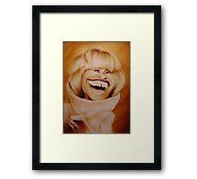 Celia Cruz Caricature Framed Print