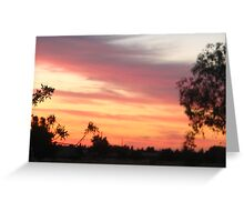 Wind-Kissed Sunset Greeting Card