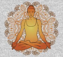 beautiful woman doing yoga meditation One Piece - Long Sleeve