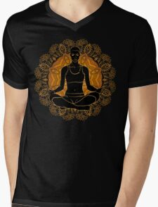 beautiful woman doing yoga meditation Mens V-Neck T-Shirt