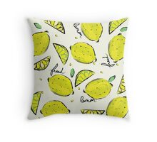 Lemons, Fresh Lemons Throw Pillow