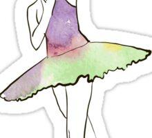 ballerina figure, watercolor illustration Sticker