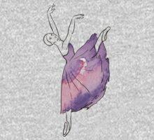 ballerina figure, watercolor illustration Baby Tee