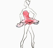 ballerina figure, watercolor illustration Womens Fitted T-Shirt