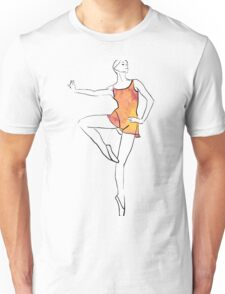 ballerina figure, watercolor illustration Unisex T-Shirt