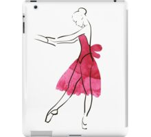 Vector hand drawing ballerina figure, watercolor illustration iPad Case/Skin