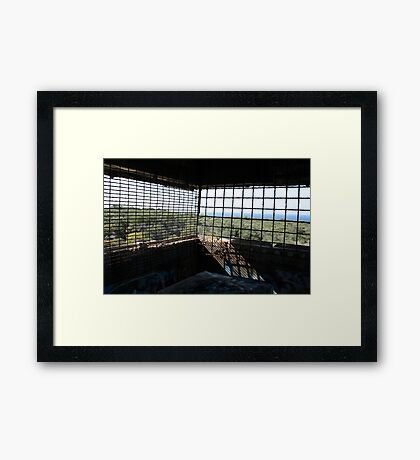 Rusted On View Framed Print