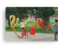 Ribbon Twirlers Canvas Print