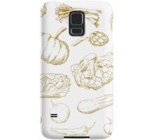 set of hand-painted vegetables Samsung Galaxy Case/Skin