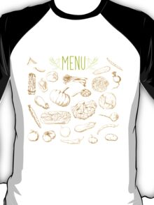 set of hand-painted vegetables T-Shirt