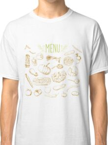 set of hand-painted vegetables Classic T-Shirt