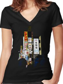 Tokyo Sounds Women's Fitted V-Neck T-Shirt