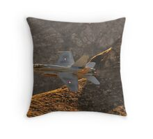 FA18 Hornet – Swiss Air Force Throw Pillow