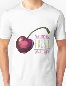 hand drawn vintage illustration of cherry Unisex T-Shirt