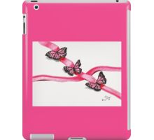Pink Butterflies on Ribbon iPad Case/Skin
