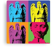 """Don't blink."" -Andy Warhol Canvas Print"