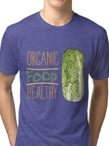 hand drawn vintage illustration of cabbage Tri-blend T-Shirt