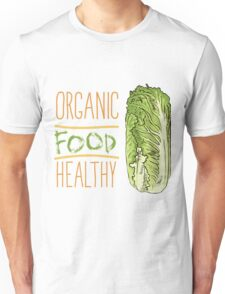 hand drawn vintage illustration of cabbage Unisex T-Shirt