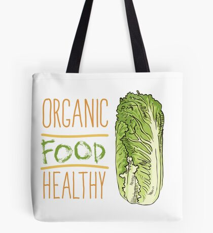 hand drawn vintage illustration of cabbage Tote Bag