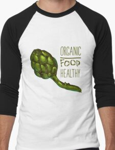 green fresh useful eco-friendly artichoke Men's Baseball ¾ T-Shirt