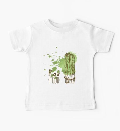 hand drawn vintage illustration of asparagus Baby Tee