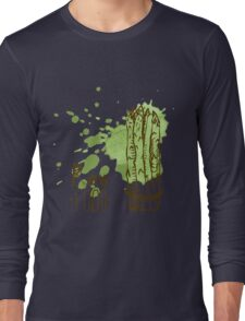 hand drawn vintage illustration of asparagus Long Sleeve T-Shirt